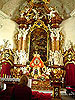 Altar in church of St Joseph in Krzeszow abbey