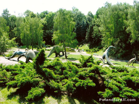 The dinosaurs valley - Silesian Zoological Garden in Chorzow