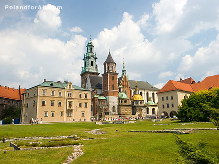 Wawel cathedral, part of Royal Castle in Cracow