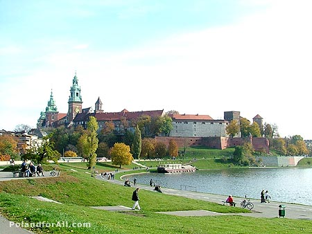 Wawel Royal Castle and Vistula river
