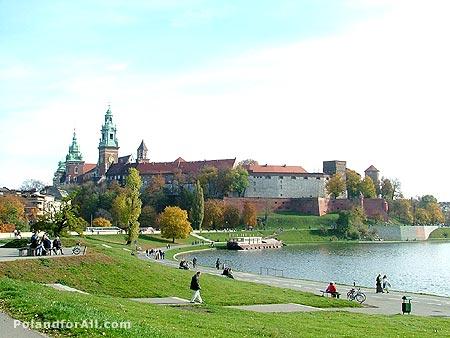 Wawel Royal Castle and Vistula river