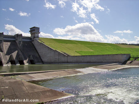 Dam on river Raba in Dobczyce