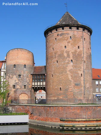 Stagiewna gate and Stagwie defense towers in Gdansk