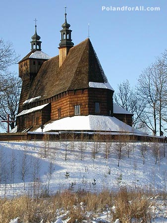 Old wooden church in Haczow