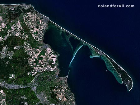 Satellite view of Hel Peninsula