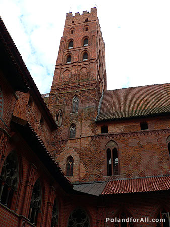 Highest tower in Malbork Castle