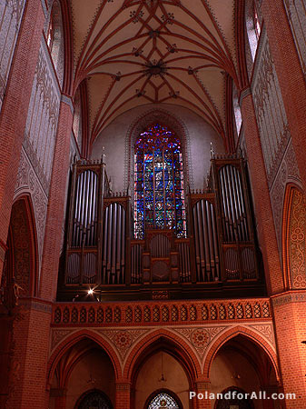 Pipe organ in Gothic Cathedral