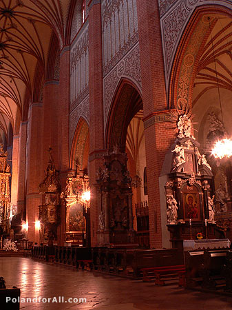 Gothic Cathedral - intherior of the Basilica