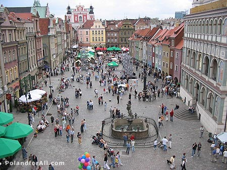 The Old Market Square in Poznan