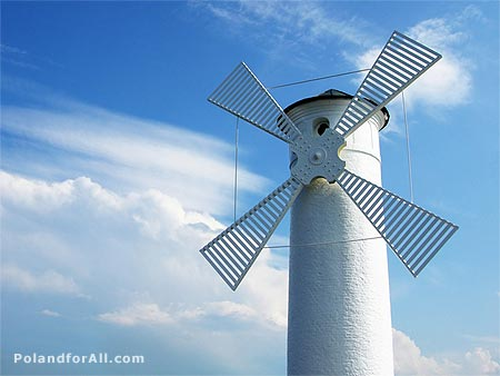 Mlyny Fixed Beacon - Windmill, Swinoujscie