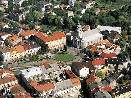 Aerial view of Wadowice