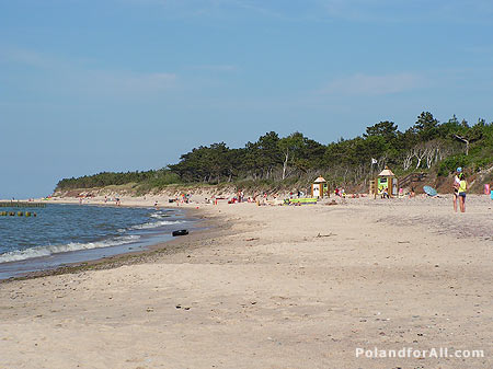 Baltic sea beach in Wicie