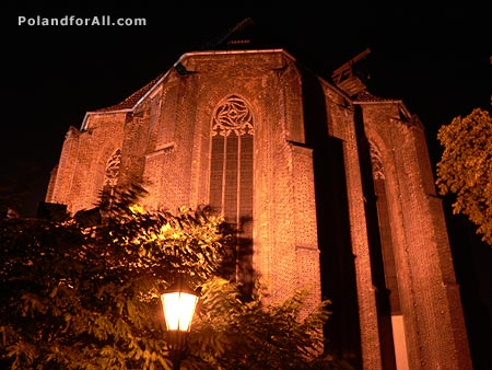Night view of The Church of the Blessed Virgin Mary