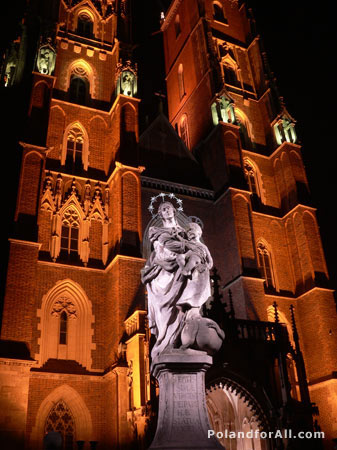 The St. John the Baptist cathedral in Wroclaw