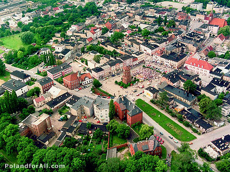 Aerial view of Znin, Poland